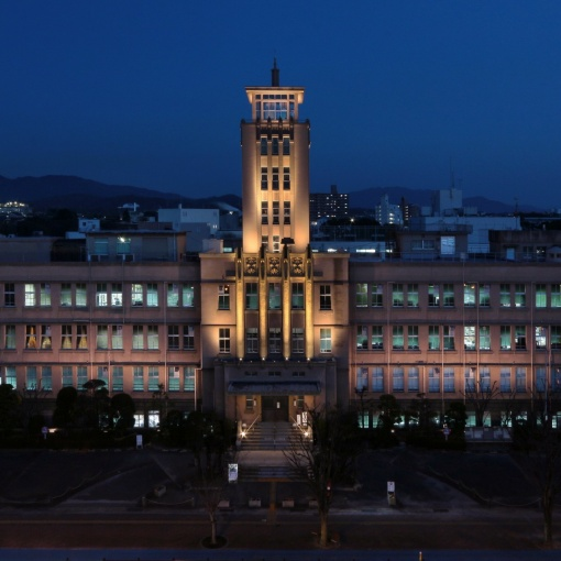 市政100周年記念事業 大牟田市庁舎ライトアップ